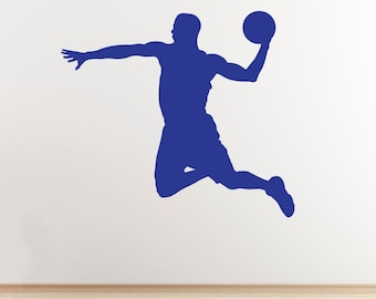 Basketball Wall Sticker - Slam Dunk Player Outline