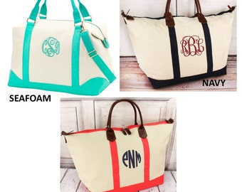 Monogrammed  Weekender/ Overnight Bag