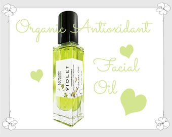 ORGANIC Super ANTIOXIDANT Facial Oil with Vitamins and Minerals NOURISH and Protect. Feels Great.  Smells Fantastic.