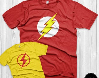 Father's Day gift Flash & Kid Flash Shirt Set Father Son matching shirts for him dad gift father child matching gift from kid