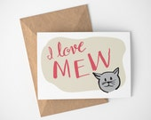 Card From Cat, Happy Birthday Card From Cat, Birthday Card From Cat, Cat Person Gift, Cat Card, Cat Card Funny, Birthday Card From Pets
