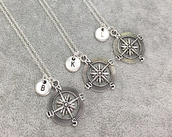Set of 3 - 925 Sterling Silver, personalized Best friend necklace-set of 3,filigree necklaces,filigree charms,friendship,3 friends, BFF Gift