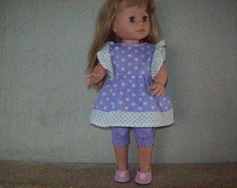 clothes for dolls 42 cmconvient to Soy you Paola reina (tunic and Capri pants)