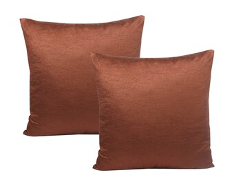 Solid Brown Pillow Cover, Set of 2 Pillow Covers
