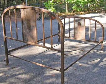 Old fashioned iron bed 56