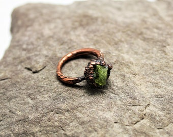Peridot Electroformed Ring