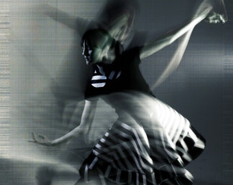 SALE Broken Wings Dance Photography, Print Wall Art, Black and White, Surreal Portrait, Movement Print