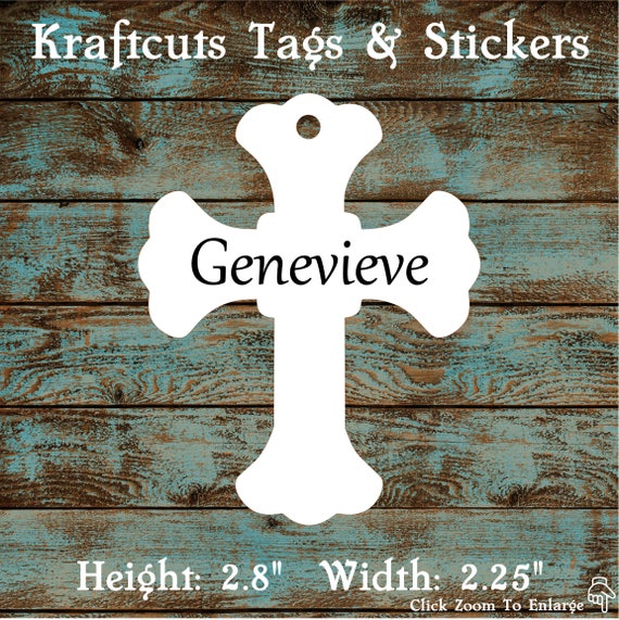 Favor or Gift Tags - God Bless Cross Tags #697 - Quantity: 30 Tags