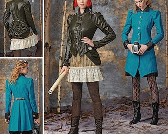 Cheapest Shipping Steampunk Costume Pattern. Simplicity 1299 Size: 6-12 & 14-22. Coat, Jacket, Skirt, Bust.le Arkivestry Pattern. New, Uncut