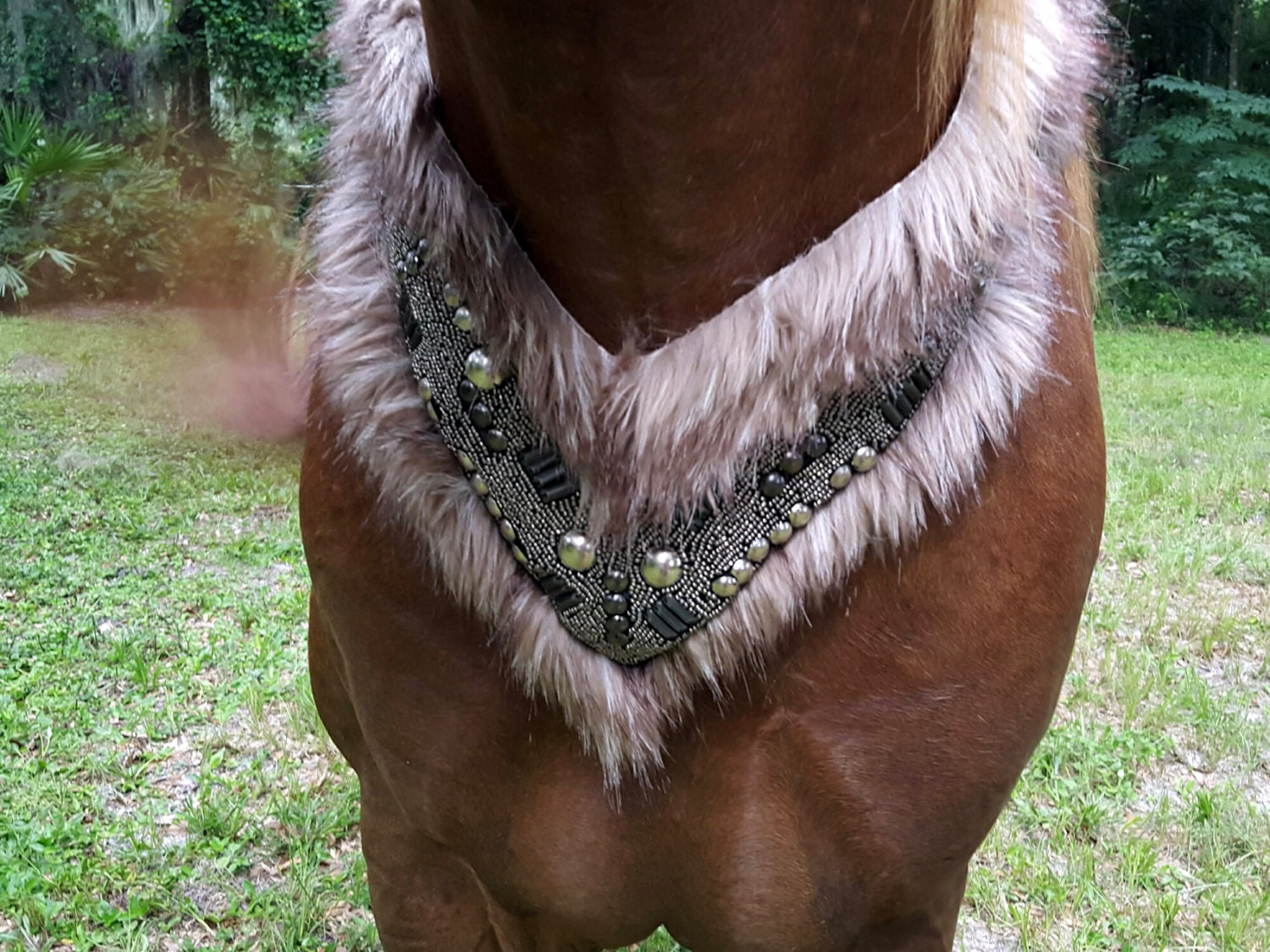 Fur And Armor Equine Necklace / Breast Collar Warrior