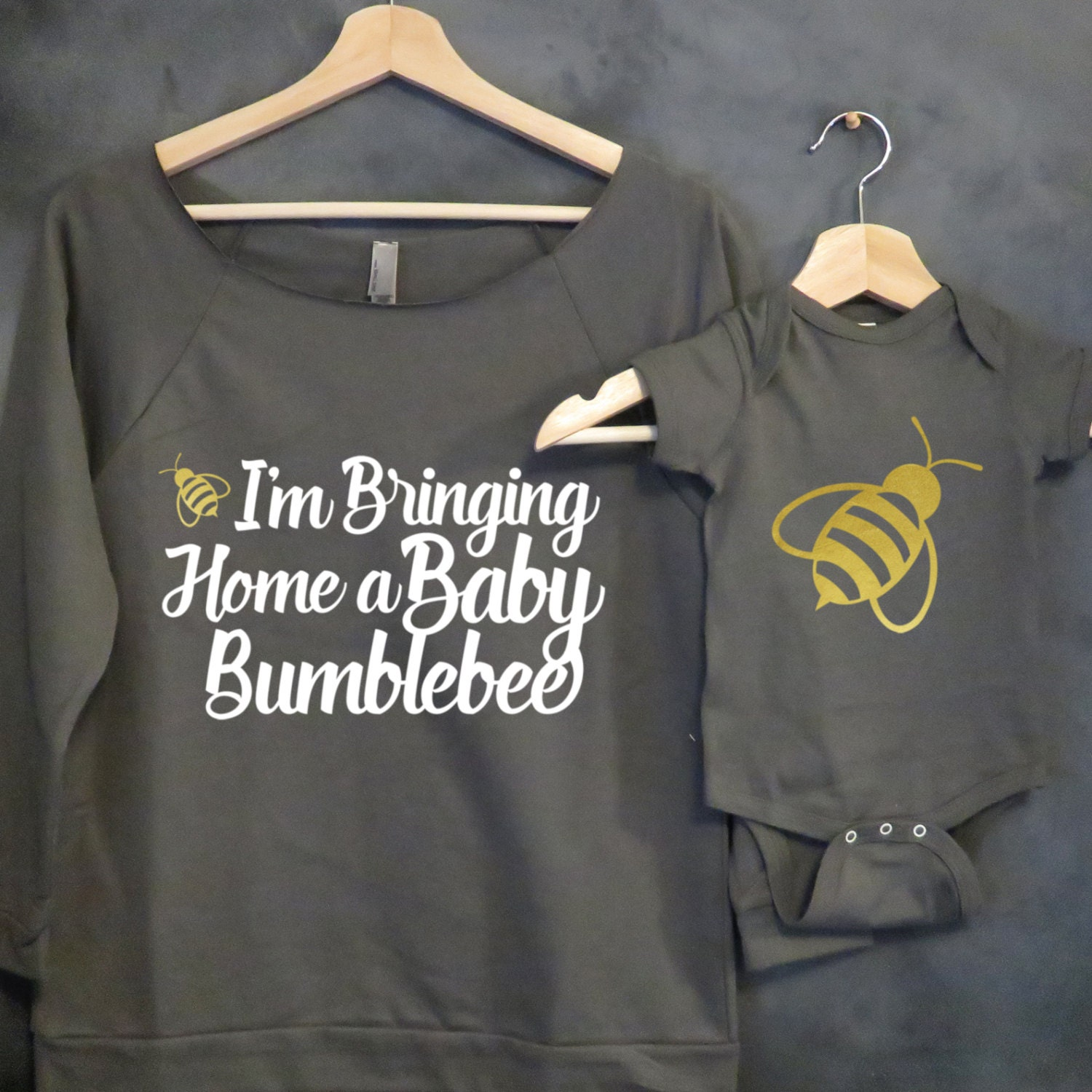 Mommy And Me Shirt Package Baby Bumblebee