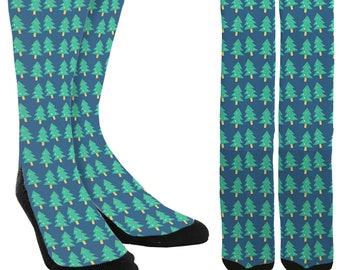 Christmas Tree Crew Socks - Holiday Socks - Santa Socks - Christmas Socks - Unique Socks - Novelty Socks - Cool Socks - FREE Shipping D84