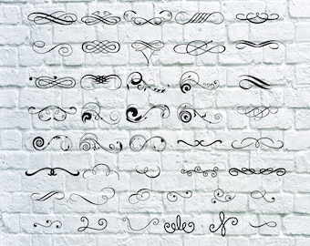 42 Swirls svg bundle-  Swirls vector - Swirls digital clipart for Print, Design or more , files download svg, png, eps, dxf, decal.
