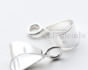 2 Pieces of  S925 Sterling Silver Bail - Pendant Holder - 15x6mm