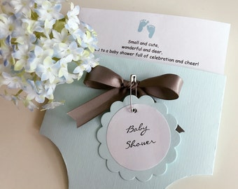 Diaper Baby Shower Invitation