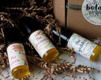 Botanical Perfume Gift Set - Deluxe Gift Set - Organic Perfume Gift Set - Vegan Perfume Gift Set