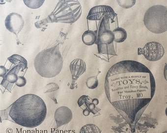 Hot Air Balloons Wrapping Paper KWSPS460 - Kraft Wrap - Balloons - Recycle - Scrapbooking