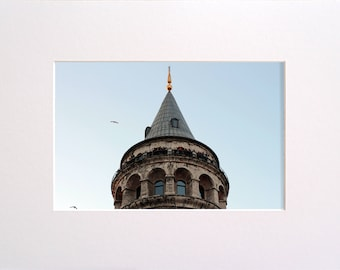 Galata Tower, Photo in 30x23 cm Mat Board, Wall Art, Home Decor, Limited Edition Photography