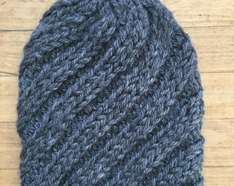 Brimless Spiral Slouch Hat- Customize Option/ Pom addition available
