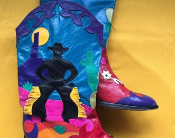 Vintage 'Zalo' cowboy boots