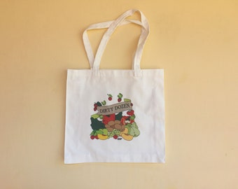 Canvas Tote Bag, Reusable Grocery Bag, Shopping Bag, Cotton Farmer's Market Bag, Reusable Tote Bag, Vegetarian, Vegan, Organic