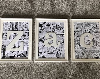 Personalised Name Frame/ Name/ Wall art/ Childrens Bedroom/ Nursery/ Gift/ Handmade/ Frames