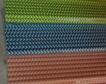 25 x Paper Drinking Straws - Chevron Stripes ~ Party ~ All Occasions