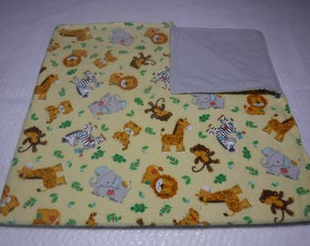 flannel baby blanket, gender neutral baby blanket, ready to ship baby blanket