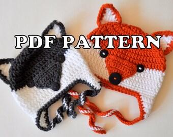 PDF PATTERN - Foxy Wolfie Hat