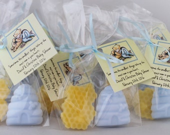 Beehive and Honeycomb Winnie the Pooh Soap Party Favors (10 cello bags):  Baby Shower Favors, Birthday Favors, Winnie the Pooh, Baby Soap