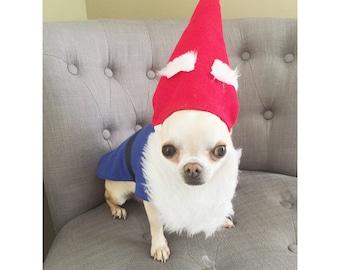 Dog Garden Gnome Costume/Dog Gnome Costume/Cat Garden Gnome Costume/Pet Gnome Costume