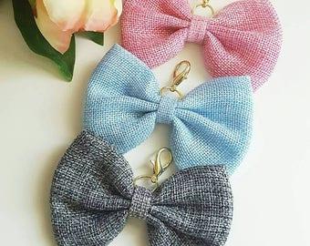 Burlap TN bow charm