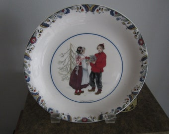 Swedish plate by Rorstrand, National Costumes, Norrbotten Province, Svenska Landskapsdrakter, 1081, collector plate