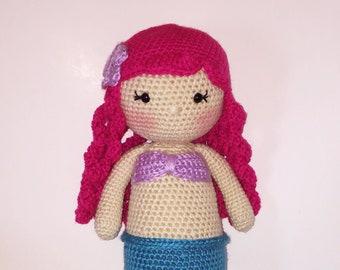 Large Crochet Mermaid Doll Amigurumi