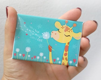 "Fridge magnet ""Make a wish, make it real""-Giselle #GiraffeMonday"