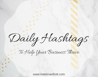 Daily Hashtag Sheet