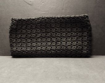 Black Woven Knot Clutch Purse - Large- Elegant