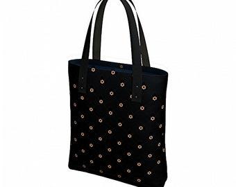 Reusable Grocery Bag, Black Messenger Bag for Women, Bum Bag, Hobo Bag, Shoulder Bag, Boho Bag, Vegan Leather Straps, Canvas Tote Bag