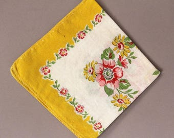 Vintage Cotton Handkerchief