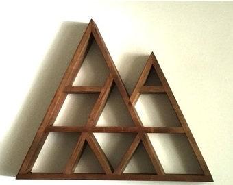 Large Rustic Geometric Mountain Shelf