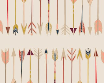 Arrow Cotton Fabric Arrows and Fletching Wild and Free by Art Gallery Fabrics WFR 147 Native American Quilt Fabric - Native American