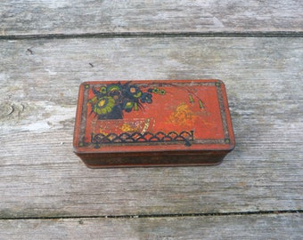 Vintage Antique French 1900s tin box DEBRAY