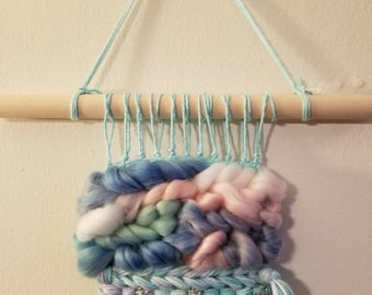 Unicorn Lovely // weaving,  wall hanging