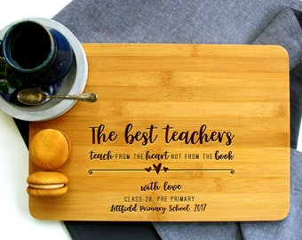 Personalized Cutting Board, Thank you teacher, Teacher Gift, Teach from the Heart