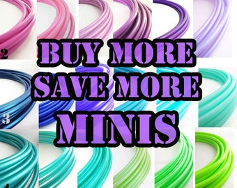"Mini Polypro  Hoops Buy More Save More // 1-6 mini Hoops Riveted Shut 18""-24"" or Push Pin to Close 20""-25"""