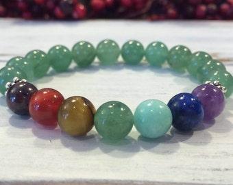 Heart Chakra Healing Bracelet, Balancing Heart Chakra, Green Aventurine Chakra Wrist Mala, Healing the Heart, Love, Compassion, Forgiveness