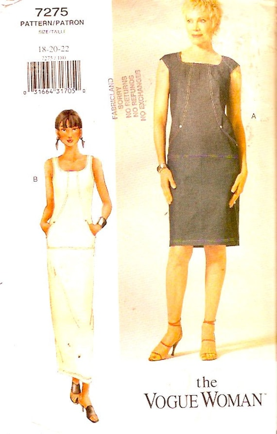Plus size Dress sewing pattern fitted straight style for