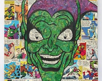 Green Goblin Original Comic Collage