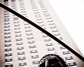 Black and White Rockefeller Center Atlas Statue Art Print Photo NYC New York City Manhattan Iconic Industrial Modern Home Decor