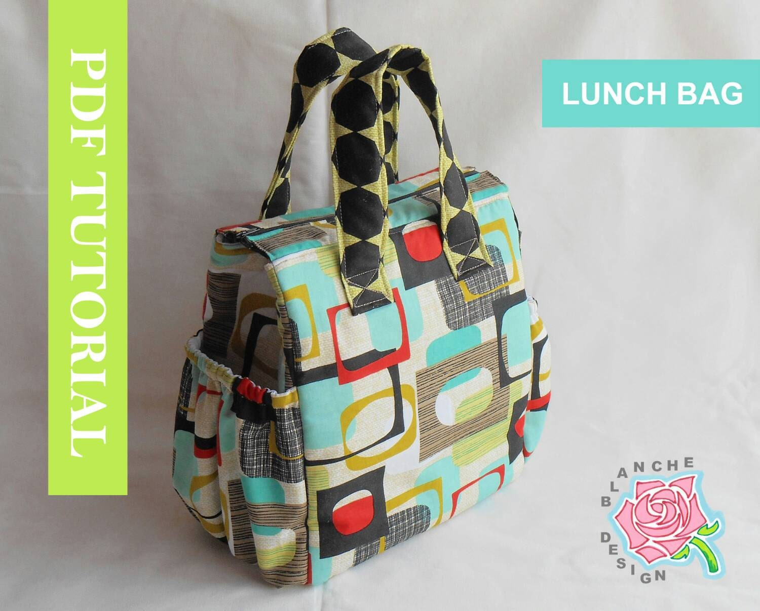 Insulated lunch bag pdf pattern tote bag sewing pattern pdf zoom jeuxipadfo Gallery